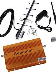 cdma980 850MHz amplificateur mobile amplificateur de signal de répéteur avec un gain de 70db de couverture fouet et antennes Yagi