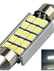 3W 12V 7000-8000K 42MM-2835-15SMD C5W with Radiator Canbus License Plate And Tail Box Lighting LED Light for Car