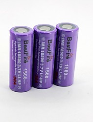 BestFire 18500 3.7V 1500mAh Rechargeable Battery(3Pack)