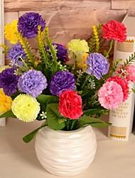 """15,7 l """"ensemble de 1 naturelles sept têtes chrysanthème sauvage fleurs en tissu de soie de la balle"""