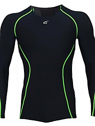Cycling Jersey Men's Long Sleeve Bike Breathable / Quick Dry / Wearable / Antistatic / Static-free / CompressionCompression Clothing /