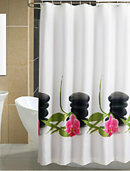 Orchid Stone Thicken Fabric Waterproof Shower Curtain