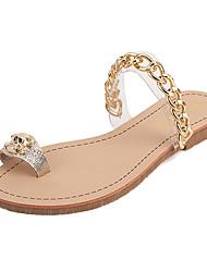 Women's Shoes Leather Flat Heel Toe Ring Sandals Dress
