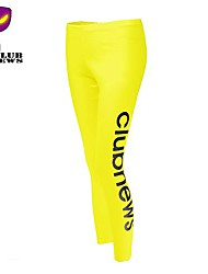 CLUBNEWS™Women's Cotton Yellow Fashion Love Fitness Pattern Sports Legging02
