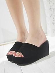 Women's Shoes Wedge Heel Peep Toe Sandals Casual Black/White