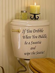 Etiquetas engomadas de la pared de la etiqueta engomada de la pared del cuarto de baño, si usted gotea la etiqueta engomada