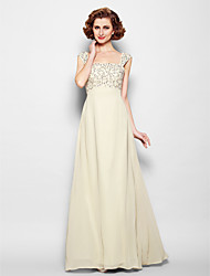 Lanting Bride® A-line Plus Size / Petite Mother of the Bride Dress Floor-length Sleeveless Chiffon with Beading