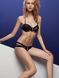 diseño de la cremallera de la moda sexy división de la mujer empuja hacia arriba el traje de baño bikini traje de baño traje de baño