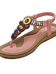 Women's Shoes  Flat Heel Flip Flops Sandals with Rhinestone Shoes More Colors available