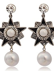 Stud Earrings Drop Earrings Pearl Imitation Pearl Alloy Punk Fashion Star Silver Jewelry 2pcs