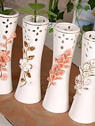 """3.9 """"l esboço do vintage em flores do ouro vaso de cerâmica branca"""