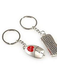 и той же раскладке мыши романтической свадьбы кольцо для ключей брелок для дня любовника Валентина (одна пара)