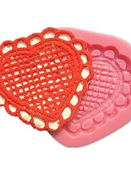 Love Pattern Heart Fabric Art Fondant Cake Molds Soap Chocolate Mould For The Kitchen Baking Cake Tool Decoration
