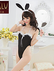 SKLV Women's Polyester  Bunny Girl Uniforms Ultra Sexy/Suits Nightwear