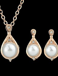 Wholesale Cheap Beautiful Imitation Pearl Fashion Jewelry Set