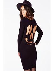 CYAY Women's Fashion Charm Backless Long Sleeve Dress