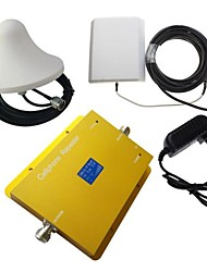 New LCD Display Dual Band CDMA 850MHz 3G 2100MHz Phone Signal Booster Repeater Amplifier with Panel and Ceiling Antenna