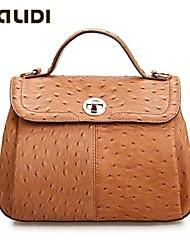 Falidi Women'S Ostrich Grain Cowhide Leather Handbags