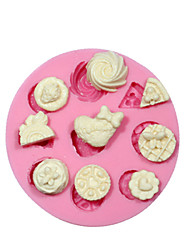Mini Cake Decorating Cupcake Silicone Mould For Crafts Jewelry Chocolate Fondant PMC Resin Clay