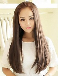 The Simulation Long Straight Hair Brushed High Temperature Wire Half a Head a Wir