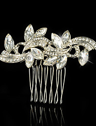 Wedding Party Bridal Bridesmaid Crystal Pearls Bridal Horse Eye Hair Comb