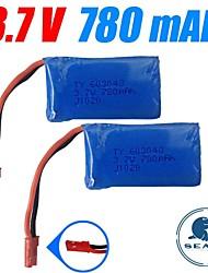 3pcs/pack 3.7v 780mAh Lipo JST WLtoys battery for v626 v636 v686 v686g Quadcopter Drone Original Batteries