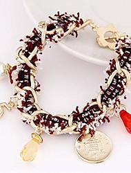 Women's Fabric Woven Fashion Wild Alloy Chain Bracelet