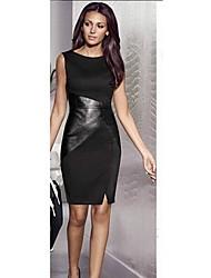 mais novo vestido de emenda magro ol das mulheres qiansy