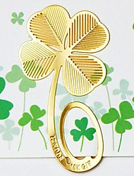 Gold Leaf Clover Metal Bookmark Kids Birthday Wedding Baby Shower Reurn Christmas Gifts Favors