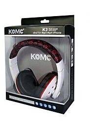 KOMC K3 3.5mm Headphone Earphone Headset For Mobile Phone Skype iPod Touch 4 (White-Red and White-Blue)