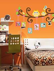 gufi rimovibili a forma di camera da letto / soggiorno tv sticker sfondo muro