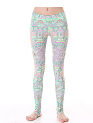 Yokaland Yoga Pants Body Shaper Paisley Print Stirrup Legging Workout Fitness Yoga Pant Sports Wear