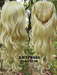 Synthetic Wig 3/4 Wig Heat Resistance Half Wig Curly Blonde Wig Pad For Hair