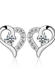 Stud Earrings Unisex Silver/Cubic Zirconia Earring Cubic Zirconia
