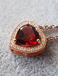 Unisex Crystal Fashion garnet Pendants