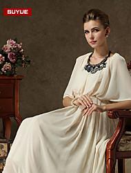 Suyue® High Quality Women's  Vintage Chiffon  Finery Three-Quarter Sleeves Maxi Dress