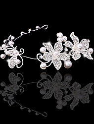 Women Alloy Tiaras With Imitation Pearl/Rhinestone Wedding/Party Headpiece