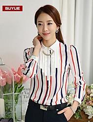 gasa delgada de manga larga camisa regular ocasional coreano de las mujeres suyue®
