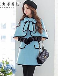 Pink Doll® Women's Bow Wool Tweed Elegant OL Cloak Coat