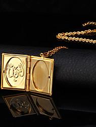 Femme Pendentif de collier Médaillons Colliers Cuivre Plaqué or 18K or Mode Bijoux Pour Mariage 1pc