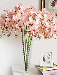 40 «papillon long tissu ochird ensemble de 10 couleur rose