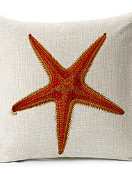 Modern Style  Starfish Patterned Cotton/Linen Decorative Pillow Cover
