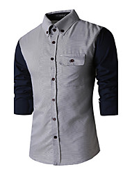 headway,Men's Vintage/Casual/Party/Work Long Sleeve Casual Shirts (Cotton)