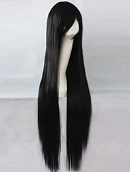 The New Anime Black Long Straight Hair Wig 100CM