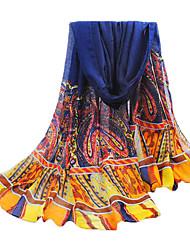 bleu fil de bali surdimensionné écharpe des femmes