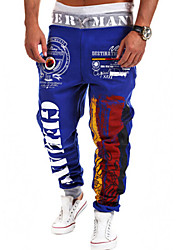 Men's Casual Print Sweatpants Pants (Cotton Blends)
