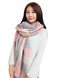 Women's Knitting Warm Plaid Scarves