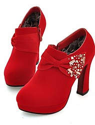 Women's Shoes Chunky Heel Round Toe Pumps/Heels Party & Evening Bowknot Shoes More Colors available
