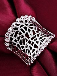 Women's Statement Rings Classic Personalized Costume Jewelry Sterling Silver Jewelry For Wedding Party Daily Casual