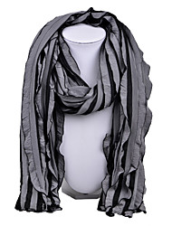D Exceed   Women Fashion Stripe Patchwork Scarf Grey Long Wraps
